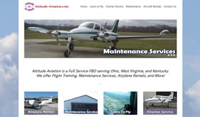 Attitude Aviation informs their perspective clients with a website from Kindred Konnect.