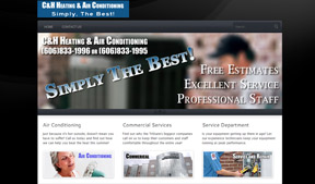 C&H Heating and Air needed a professional looking website to impress Commercial Customers.