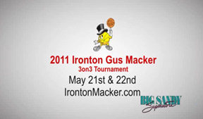 The Ironton Gus Macker needed a tv commercial, we had them covered.