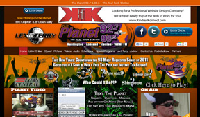The Planet 92.7 & 98.5 utilizes Kindred Konnect to manage their website.
