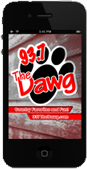 iPhone showing the Dawg Mobile App,